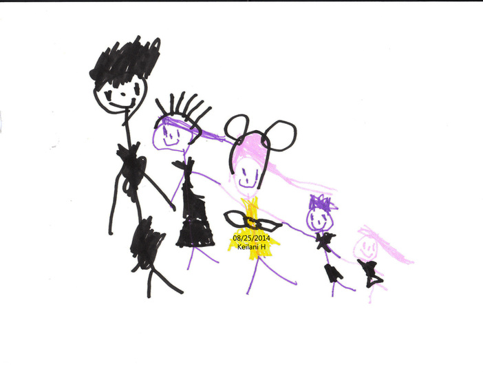 Our family in Keilani's eyes
