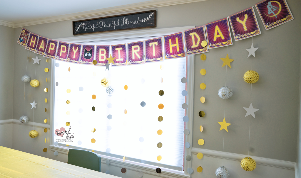 sailor moon birthday banner diy