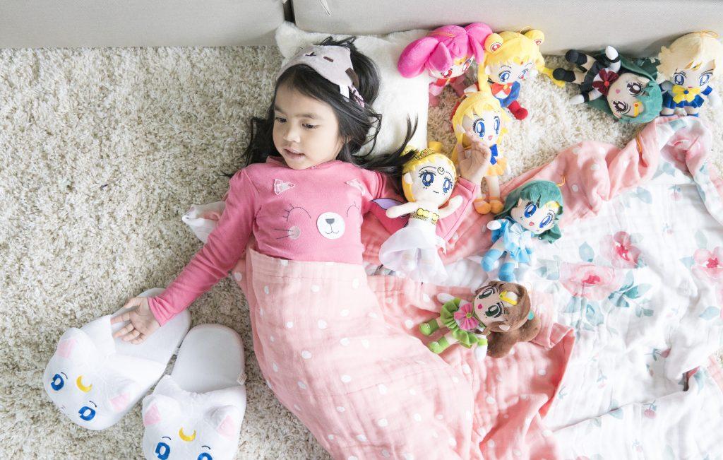 bebe au lait snuggle blanket sailor moon plush dolls