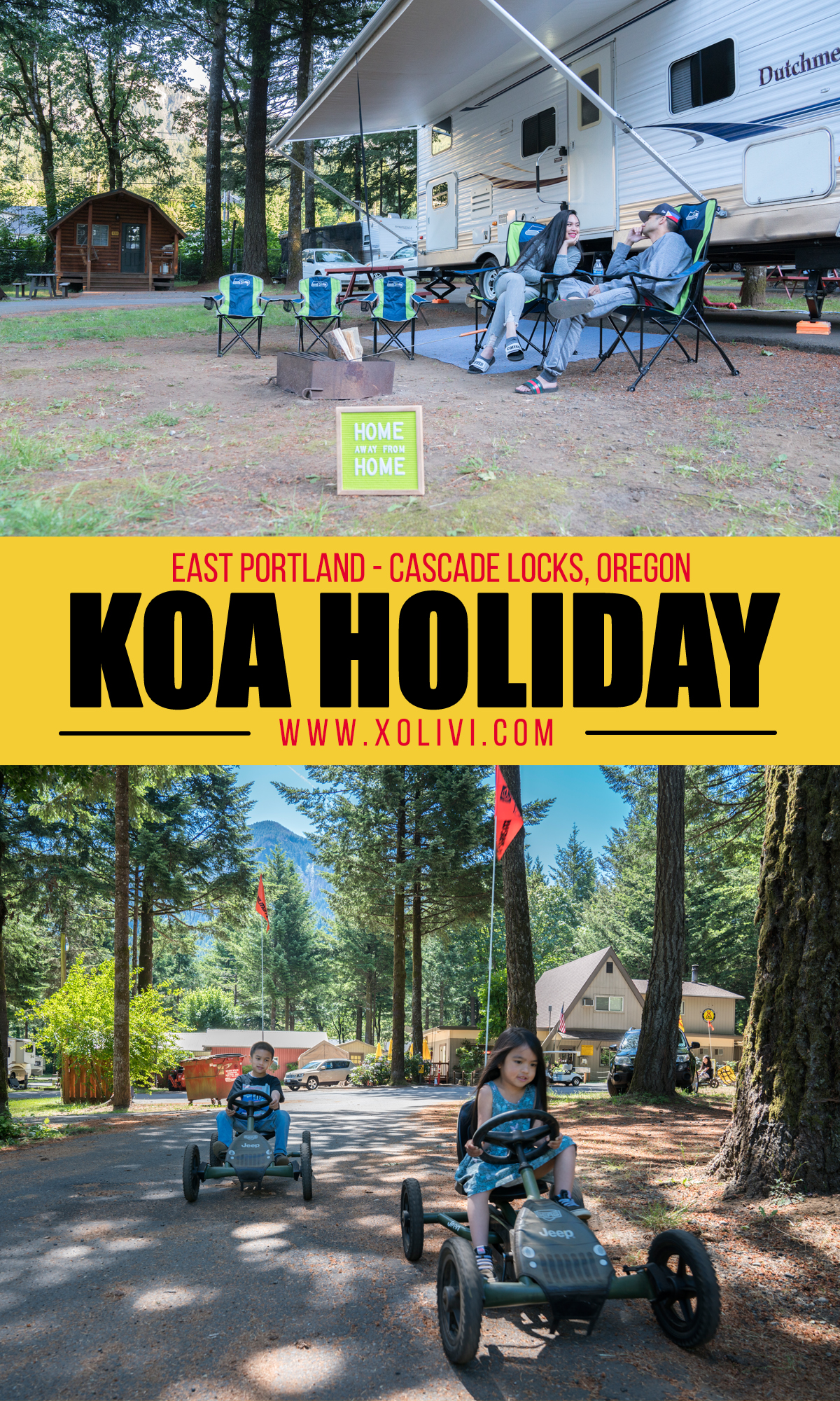 Cascade Locks Oregon east portland KOA Holiday